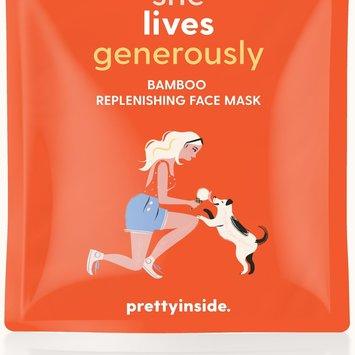 Prettyinside She Lives Generously  Replenishing Face Mask