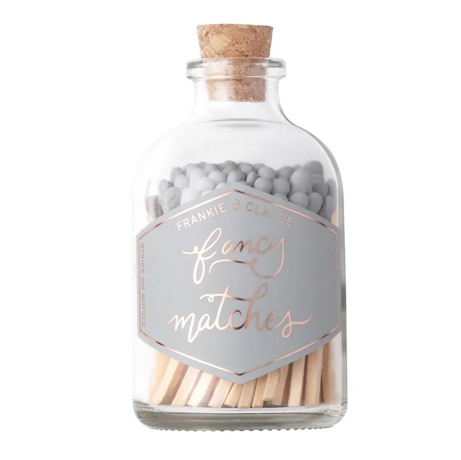 Frankie & Claude - FCL Gray Small Match Stick Jar (Fancy Matches)