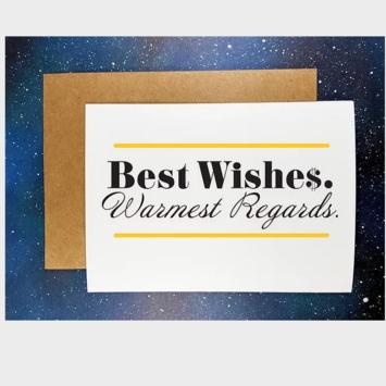 The Red Swan Shop - RSS Best Wishes, Warmest Regards Schitts Creek Card
