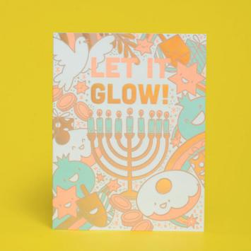 Hello!Lucky - HL Let It Glow Hanukkah Card