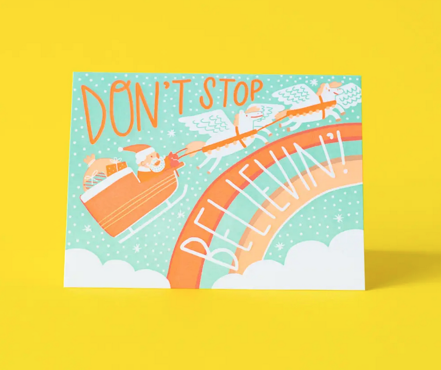 Hello!Lucky - HL Don't Stop Believin' Holiday Card