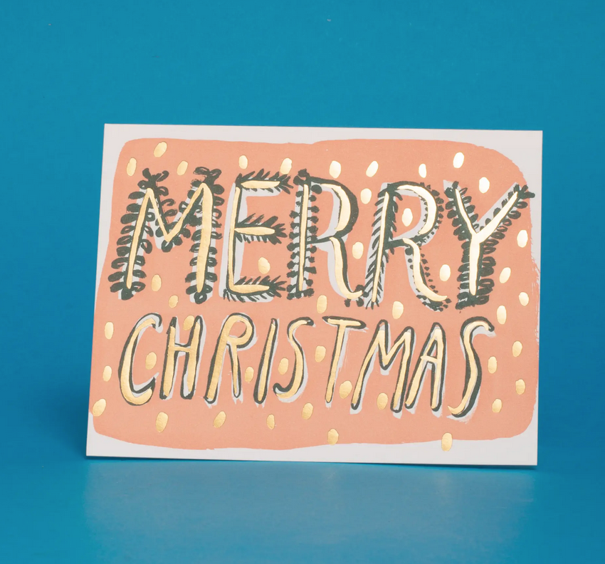 Egg Press - EP Big Christmas Type Holiday Card