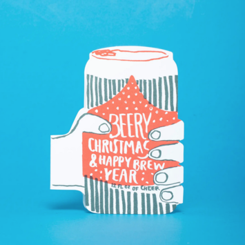 Egg Press - EP Christmas Brew Die-cut Holiday Card