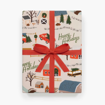Rifle Paper Co - RP Rifle Paper Co -Holiday Tree Farm Wrap, Roll of 3