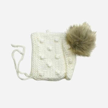 The Blueberry Hill - BH The Blueberry Hill - Coco Hand-Knit Bonnet in Cream