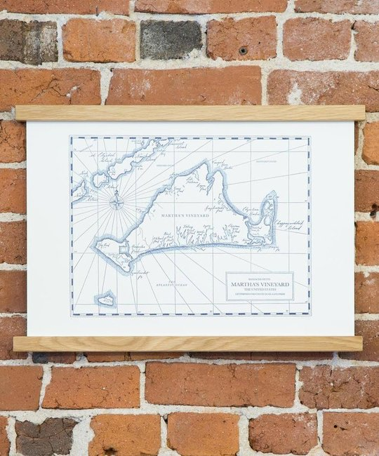 Quail Lane Press - QLP QLP PR - Marthas Vineyard Map, 12 x 16, Letterpress