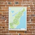 "Brainstorm Print and Design - BS Appalachian Trail Screen print 18"" x 24"""