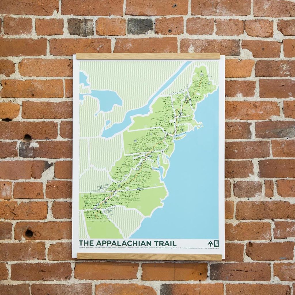 "Brainstorm Print and Design Appalachian Trail Screen print 18"" x 24"""