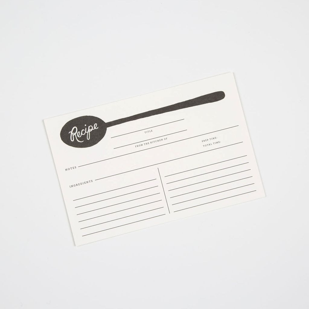 Rifle Paper Co - RP RP HGRC - Charcoal Spoon Recipe Cards, set of 12