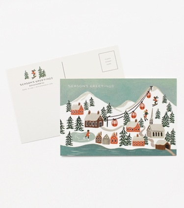 Rifle Paper Co - RP Rifle Paper - Holiday Snow Scene Postcards, set of 10