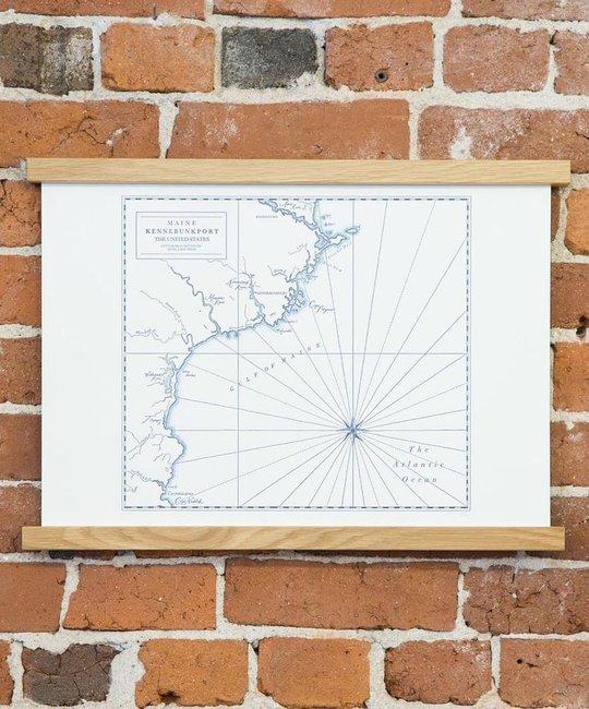 quail lane press Kennebunkport Letterpress Map Print