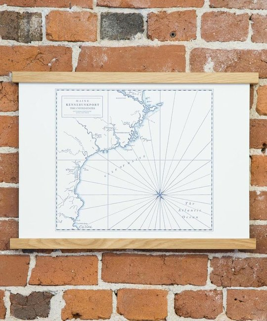 Quail Lane Press - QLP Kennebunkport Letterpress Map Print