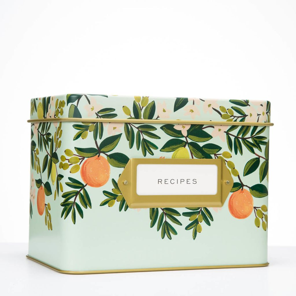 Rifle Paper Co - RP Citrus Floral Recipe Tin