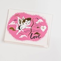 Red Cap Cards Cupid Card