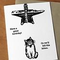 McBittersons - MCB Happy Birthday, Kill the Kitten Card