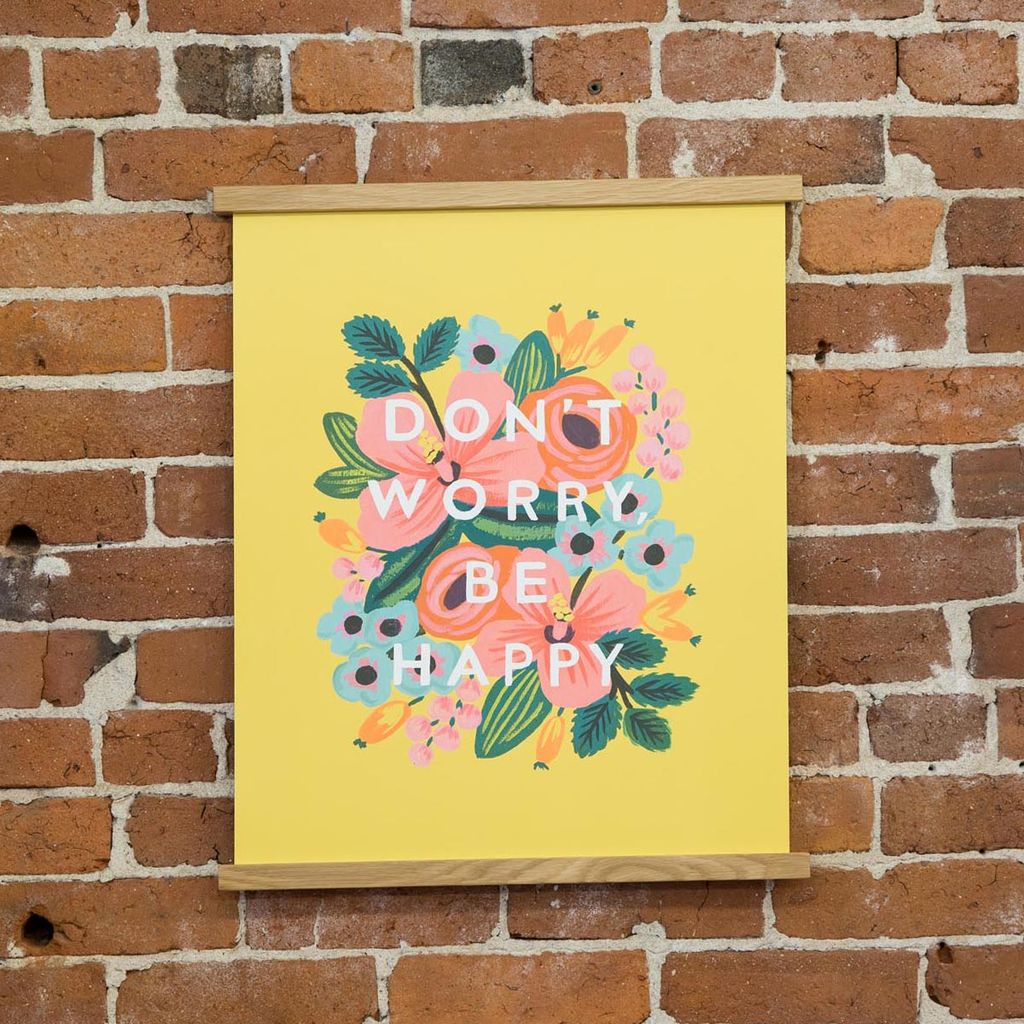 Rifle Paper Co. Don't Worry Art Print