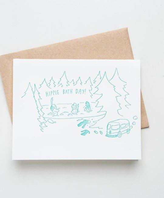 Ladyfingers Letterpress - LF Hippie Bath Day Birthday Card