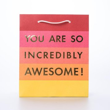 Waste Not Paper WN GBME - You are Awesome Foil Medium Gift Bag