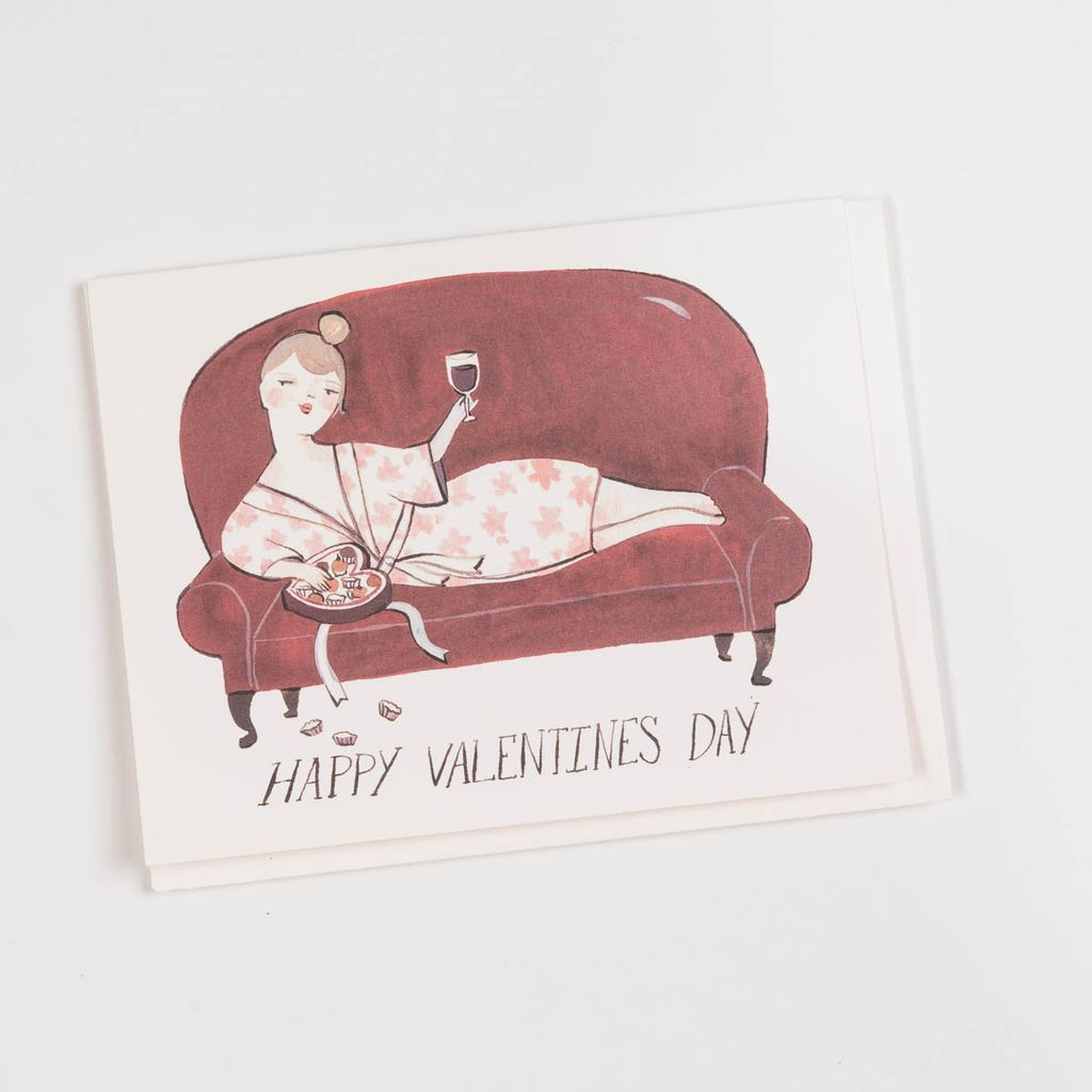Red Cap Cards Burgundy and Chocolates Card