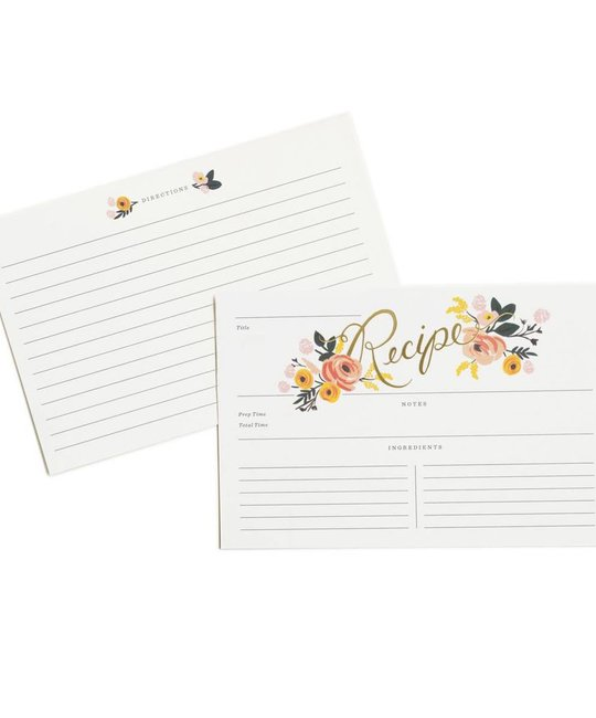 Rifle Paper Co - RP Peony Recipe Cards