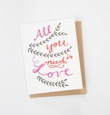 BISON bookbinding and letterpress BBL GC - all you need is love