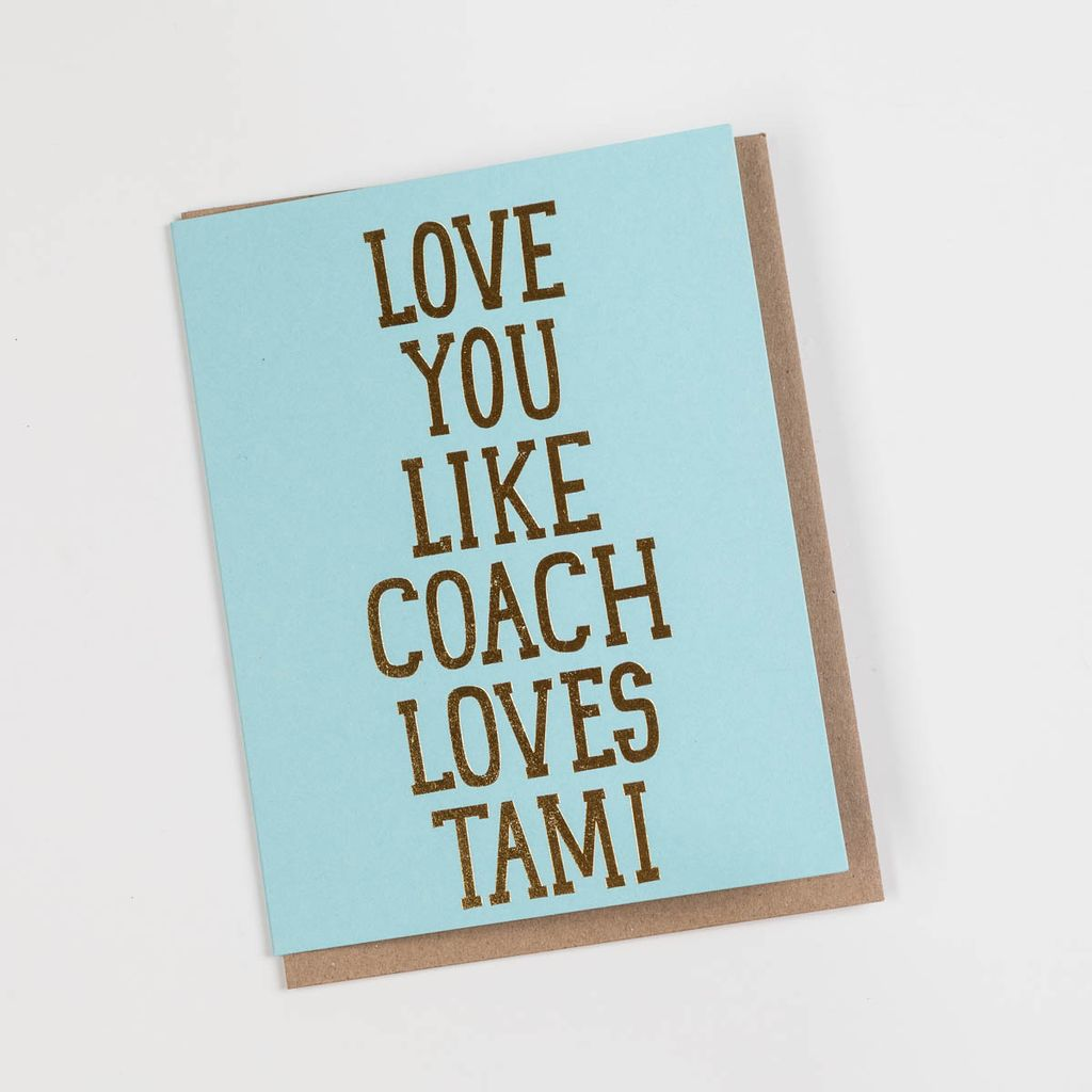 The Good Twin TGTGCLO0006 - Coach Loves Tami