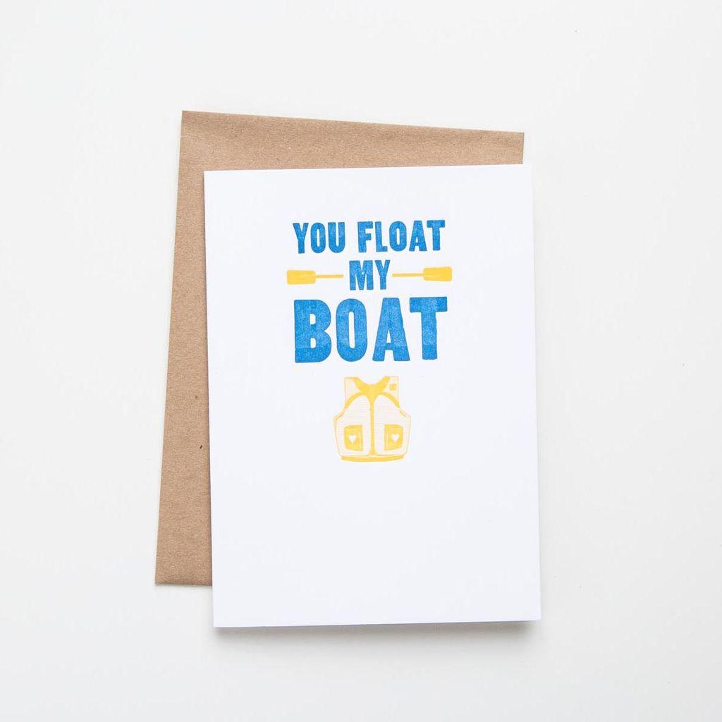 Waterknot Float My Boat Card