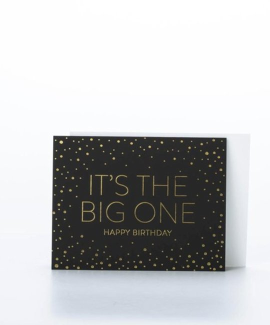 Sugar Paper SUGGCBI0004 - It's the big one (gold foil on black)