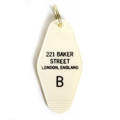 Greenwich Letterpress 221 Baker Street Vintage Keychain