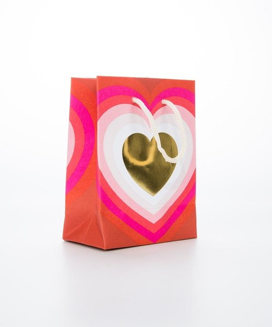 Waste Not Paper WN GB - Small Radiating Heart Gift Bag