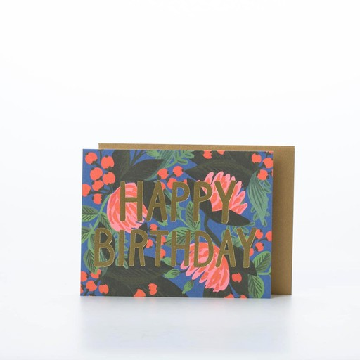Rifle Paper Co. RPGCBI0016 - Floral Foil Birthday