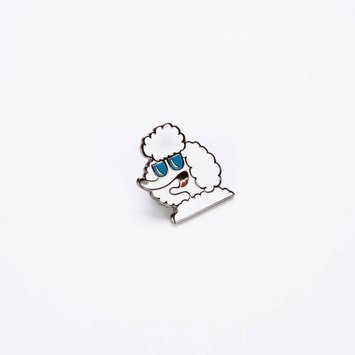 valley cruise Poodle Enamel Pin