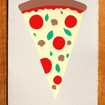 Gold Teeth Brooklyn - GTB Slice of Pizza Card