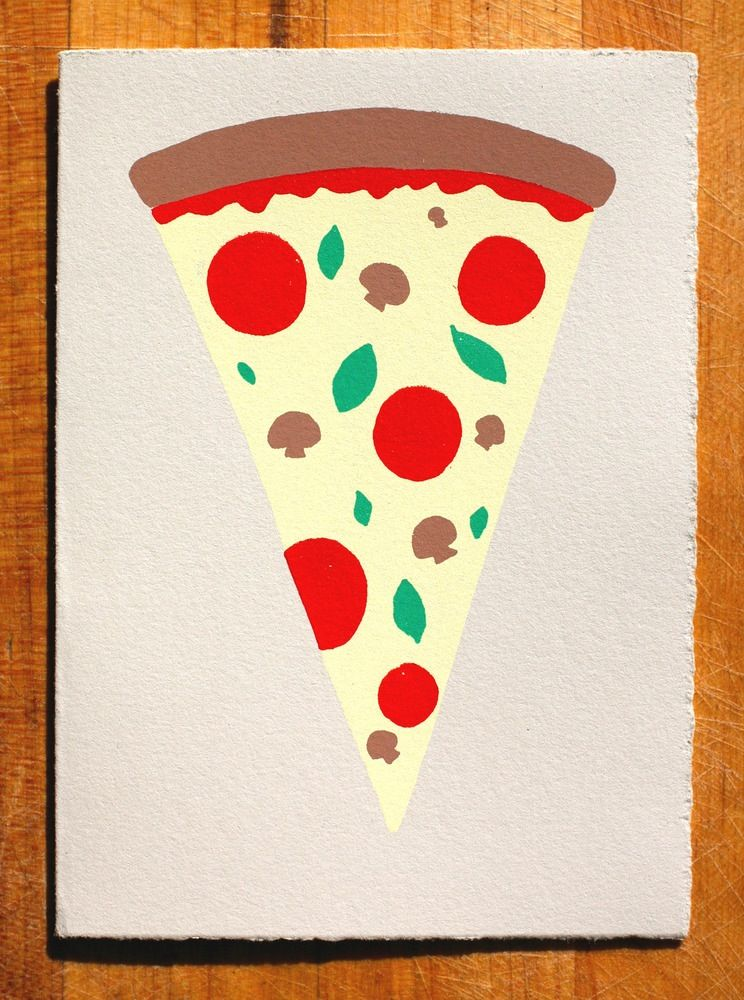 Gold Teeth Brooklyn Slice of Pizza Card