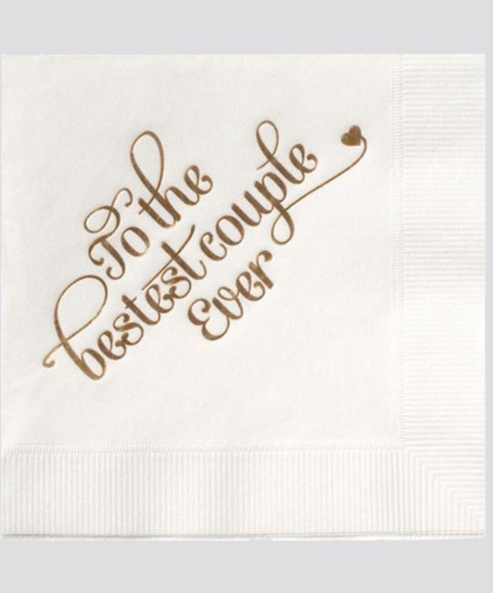 farewell paperie FWP PS - Set of 25 napkins, Bestest Couple