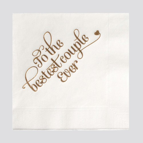 farewell paperie Bestest Couple Napkins