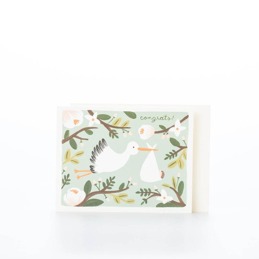 Rifle Paper Co. Stork card