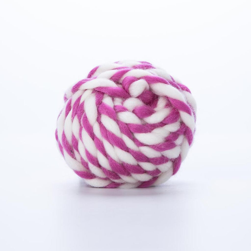 knot and bow KAB RI - Fuschia Color Twist Wool
