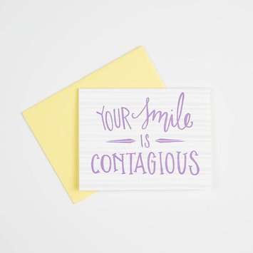 Gus and Ruby Letterpress GRGCMI0004 - your smile is contagious