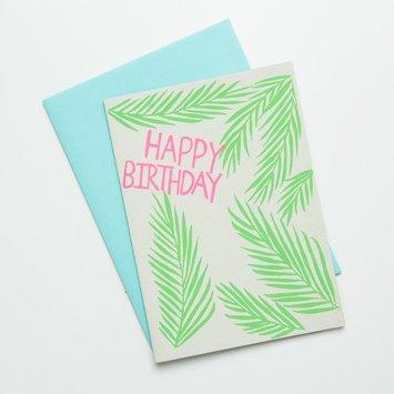 Gold Teeth Brooklyn Palms Birthday Card