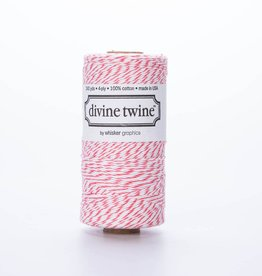 whisker graphics Coral Bakers Twine Spool