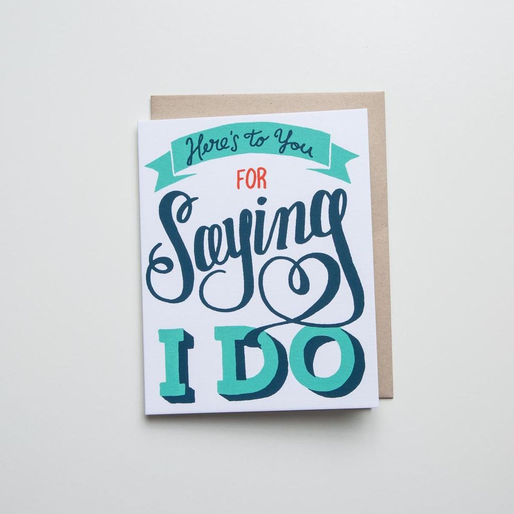 Meeschmosh Saying I Do Card