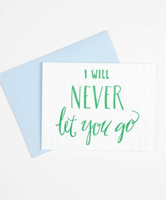 Gus and Ruby Letterpress - GR GRGCLO0004 - Never Let You Go