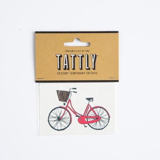 tattly Red Bike Temporary Tattoos