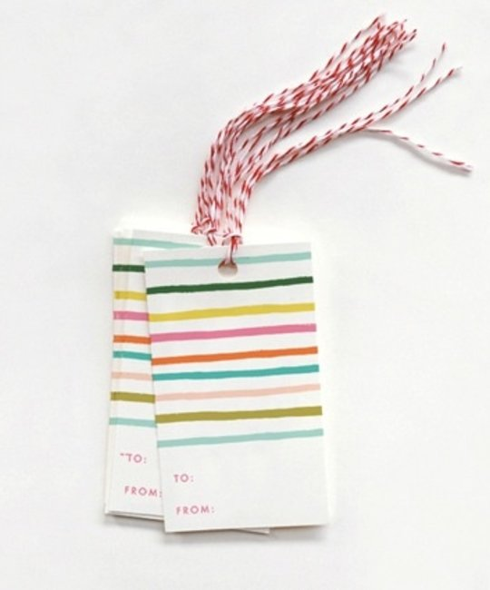 Rifle Paper Co - RP RP GT - happy stripe gift tags, set of 10