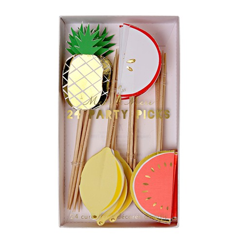 Meri Meri MEM PS - Fruit Party Picks 24 pk