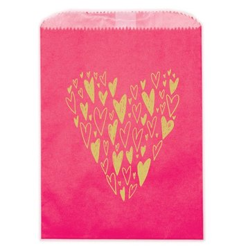 Ladyfingers Letterpress Hearts Treat Bags