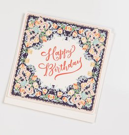 Antiquaria Birthday Handkerchief Card