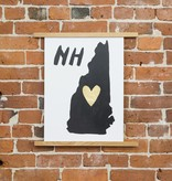 Idlewild Co. IDPR - NH Home is Where the Heart is print, 13 Inch x 18 Inch