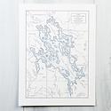 Quail Lane Press - QLP Lake Winnipesaukee Letterpress Map
